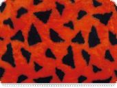 Fleece, triangles, orange, 145cm