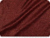 Knitted fabric with lurex & glitter, red-black, width 150cm