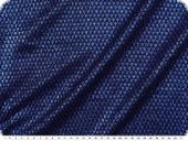 Knitted fabric with lurex & glitter, blue-black, width 150cm