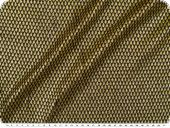 Knitted fabric with lurex & glitter, gold-black, width 150cm