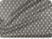 Knitted fabric with glitter & lurex, grey-silver, width150cm