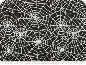 Nylon flocked, spiderweb, black-white, 145cm