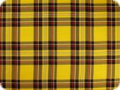 Tartan fabric, yellow, 145cm