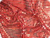 Sequins fabric, red, 112cm