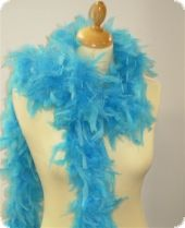 Feather boa, decorative feathers, turquoise,180cm