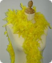 Feather boa, decorative feathers, yellow, 180cm