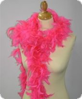 Feather boa, decorative feathers, pink, 180cm