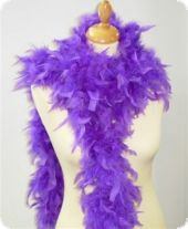 Feather boa, decorative feathers, purple, 180cm