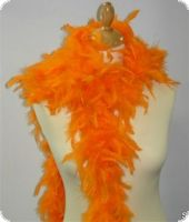 Feather boa, decorative feathers, orange, 180cm