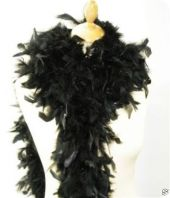 Feather boa, decorative feathers, black, 180cm