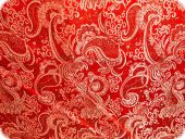 Jacquard paisley with lurex, red, ca. 140cm
