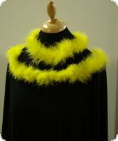 Marabou-feather boa, yellow, ca. 170-175cm