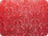 Jacquard paisley with lurex, red, ca 140cm