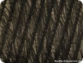 Fringe effect fabric for Charleston carnival dress, black