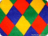Teddy bear fabric, rhombs, multicoloured, ca. 150cm