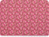 Nice cotton print, flowers, pink,140cm