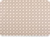 Nice cotton print, flowers, pastel brown, 142-145cm