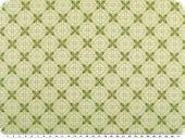 Nice cotton print, ornaments, light green, 142-145cm