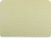 Nice cotton print,  small ovals, light green, 142-145cm