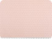 Leftover, Nice cotton print, small ovals, pink, 95x145cm