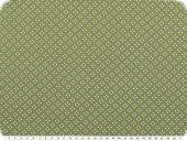 Nice cotton print,  tiny hearts, ferngreen, 142-145cm