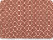 Nice cotton print,  tiny hearts, salmon pink, 142-145cm
