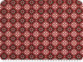 Cotton poplin, ornament-flowers, red-brown, 145cm