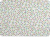 Cotton poplin, small dots, white-multicolour, 142cm