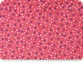 Cotton poplin, small dots, pink-multicolour, 142cm