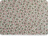 Cotton poplin, small dots, grey-multicolour, 142cm