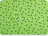 Cotton poplin, small dots, yellow green-multicolour, 142cm