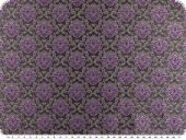 Fashionable jacquard fabric, flowers, violet-grey, 155cm
