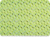 Nice cotton print, drops, yellow green, 142-145cm