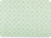 Quality poplin, flower pattern, light turquoise, 142-145cm