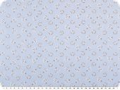 Mathilda's quality poplin, flower pattern, light blue, 142cm