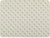 mathilda's quality poplin, flowers, light-turquoise, 142cn