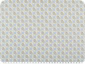 Mathilda's quality poplin, flowers, light blue, 142cm