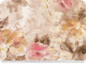 Deco fabric, abstract flower painting, pink-multicolour,