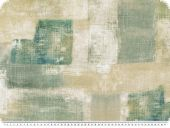 Deco fabric, painted rectangles, grey-petrole, 140cm