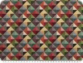 Upholstery-deco fabric, jacquard, small triangles, 140cm