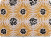 Decoration fabric, flowers, percal cotton, maize