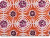Decoration fabric, flowers, percal cotton, orange