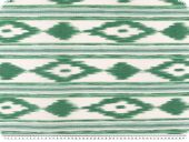 Deco fabric, aztec, white-green, 140cm