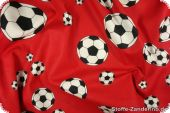 Football print, red-black-white, ca. 140cm