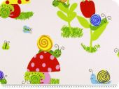 Fancy deco fabric , Animals and flowers, multicolour, 280cm