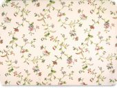 Deco fabric , flowers, ecru-fuchsia-green, 140cm