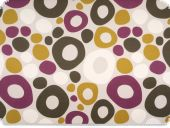 Deco fabric , circles, multicolour, 140cm