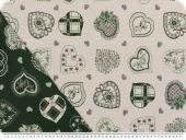 Doublesided jacquard fabric, hearts, 140cm