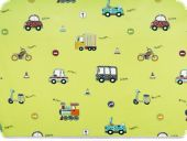 Children-deco fabric, cars, light green, 140cm