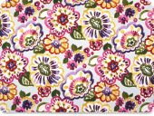 Versatile deco fabric , flowers, multicolour, 140cm